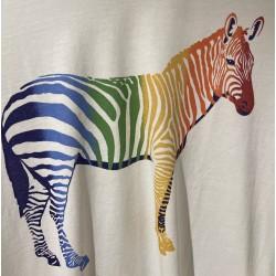 T-shirt coton motif Zèbre