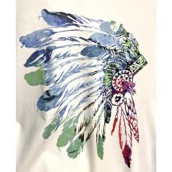 T-shirt coton motif Indien