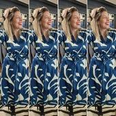Sourire ... #dress #womenstyle #madeinitalia #seventyvenezia #springvibes #robe #imprimé #monstera #blu #womenstyle #angersmaville❤  . . Mannequin @chlo_lvqe  Robe @seventyofficial @showroom.sophie.tanguy